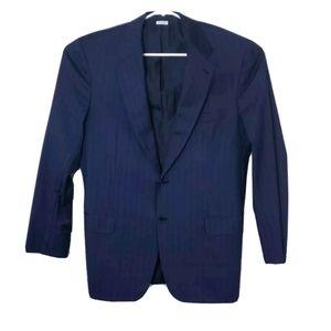"""Brioni Mens 44"""" Blue 100% Wool Blazer Sports Coat"""